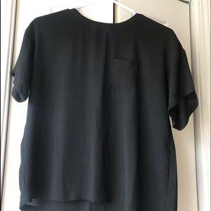 Loft Black Short Sleeve Blouse